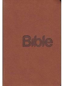 Bible 21 nová, koženka hnědá