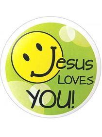 Kapesní zrcátko – Jesus loves you!