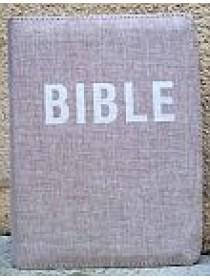 Bible ČEP s DT - zip, přírodní plátno