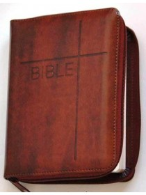 Bible ČEP + DT - zip, hnědá (1148)