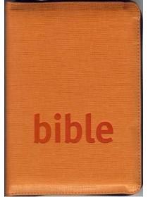 Bible Český studijní překlad - se zipem, oranžová (1151)